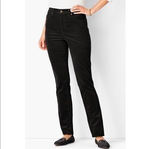 TALBOTS | sz 8P black high rise straight leg cords